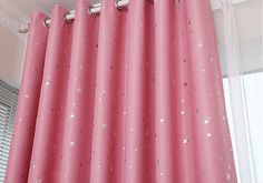 """2 x Custom Made French Country Children Kids Boy Girl Star Pink Blockout Blackout  Window Curtain Panel 017 59""""wide x 84""""drop"""