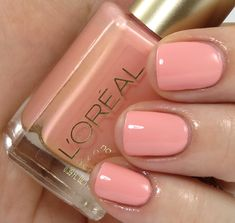 L'Oréal Paris Colour Riche Versailles Romance Collection for Spring 2013 Macaroon Me Madly (Again, I do not know how I feel about pink polishes.)