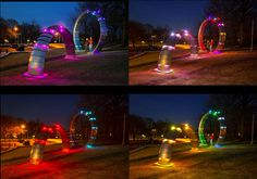 """""""The Revolutions of Brandon Park,"""" a pair of interactive solar sculptures that adorn a walking path in Brandon Park, Lancaster, Pa."""