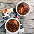 Norwegian sweet soup. A mix of dried fruit, spices, and tapioca. Click through for recipe.