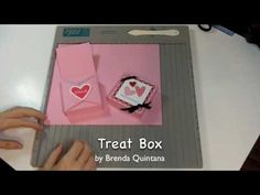 Learn how to make a Valentine's Treat Box inspired by the Stampin' Up Love Bots Boxes.  This is my very first video tutorial.  I hope you like it.