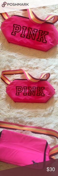 97f66f145b8 VS Pink Neon Stripe Strap Pink Fanny Pack Victoria s Secret Pink Fanny  pack. NWOT.