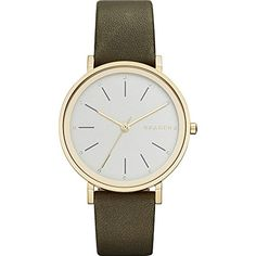 Skagen Womens SKW2491 Hald Green Leather Watch ** Find out more about the great product at the image link. (This is an affiliate link) #HashTag1