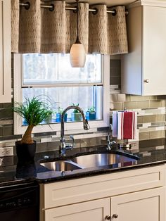 Kitchen Backsplash By Window kitchen remodelrenovisions. decorative tan and black tile