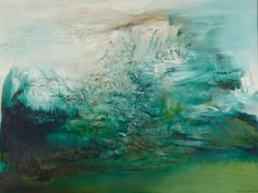 Chinese abstract painter Zao Wou-Ki.