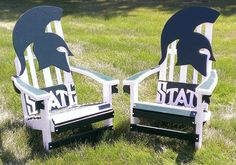 MSU / Michigan State University Spartans  Adirondack Chairs want these for my yard