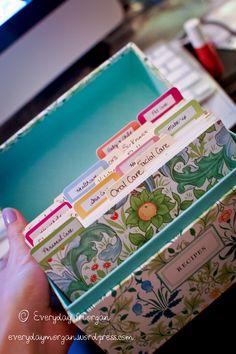 homemade cleaners recipe box