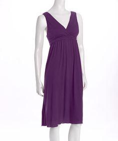 Look at this #zulilyfind! Plum Signature Nursing Gown - Women & Plus by Amamante Nursingwear #zulilyfinds