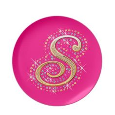 Choose from a great selection of Golden plates ranging from dinnerware to license plates for you car. Browse our pre-existing designs or create your own on Zazzle today! Alphabet Letters Design, S Alphabet, Love Letters, Letter A Crafts, Letter Art, S Letter Images, Pink Plates, Wolf Wallpaper, Custom Mouse Pads