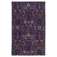 Hand-tufted wool rug with a botanical motif.  Product: RugConstruction Material: WoolColor: PlumFeatures: Handmade Note: Please be aware that actual colors may vary from those shown on your screen. Accent rugs may also not show the entire pattern that the corresponding area rugs have.