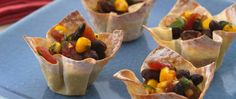 Betty Crocker's Heart Healthy Cookbook shares a recipe! Looking for a stunning appetizer? Then treat your guests to these black bean and corn wonton cups - featuring hints of Asian and Southwest cuisine.