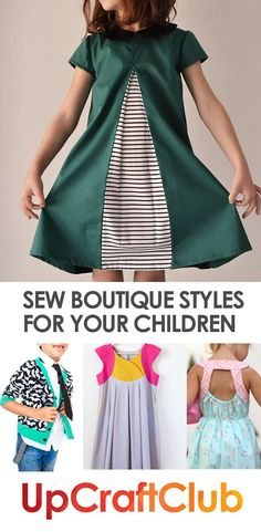 These sewing patterns from UpCraftClub.com will make you look like a boutique designer every time! Sew for your kids!