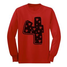 Four Years Old Birthday Gift Idea - I'm 4 Superstar Long sleeve kids T-Shirt 3T Red. Great gift idea for a 4 year old boy or girl. 4th Birthday present. Trendy, brightly colored graphics. A unique gift idea for a friend or family member. Available in toddler- junior / youth size. Printed exclusively in the USA. Using the latest in garment printing technology - the same quality you will find in any city boutique or department store. Our designs are available on a wide range of apparel;...