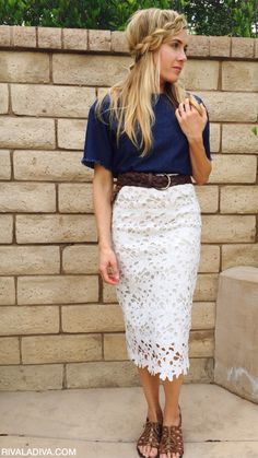 This DIY Michael Kors inspired lace skirt is pure perfection, save food money fo… – 2019 - Lace Diy Diy Lace Skirt, Lace Skirt Outfits, Crochet Skirt Outfit, White Lace Skirt, Dress Shoes, Shoes Heels, Michael Kors, Mode Top, Mode Outfits