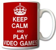 Keep Calm and Play Video Games Mug
