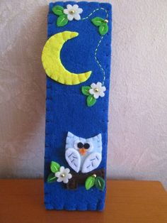 Bookmark Owl bookmark Felt Bookmark Birthday by TinyFeltHeart