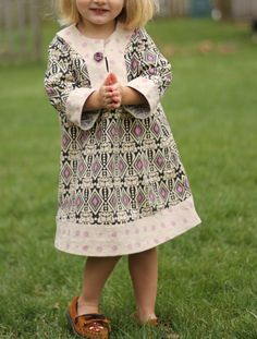 Cute Charlie Tunic Dress pattern for kids.