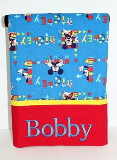 Mickey Mouse Pillowcase boys or girls by FunThreadzBoutique