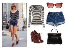 """""""Taylor Swift Street Style"""" by nesibekaraca ❤ liked on Polyvore featuring Jane Norman, Isolá, Hermès, Karl Lagerfeld and taylorswift"""
