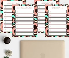 *DIGITAL DOWNLOAD* These printable planner pages are a great addition to: Gratitude Journal Daily Affirmations Printable Journal Personal