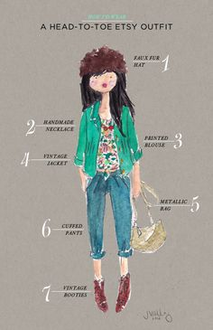 Love: {how i'd wear} a head-to-toe etsy outfit… - Oh Joy!.
