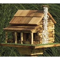 How To Building Bird Houses log cabin birdhouse http://socialaffiliate.wix.com/bird-houses