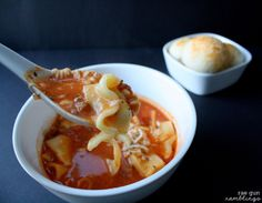Delicious and easy lasagna soup recipe for the crock pot (freezable) - Rae Gun Ramblings#GameTimeGoodies #shop #cbias