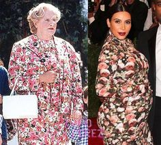 Who wore it best? I mean really.  I saw her and thought it looked like a duvet.