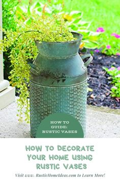 Learn How to Decorate your Home with Rustic Vases. Rustic Vases are beautiful and add charm to any space. Shop our large selection and find the one that is best for you.#RusticDecor #RusticVases #RusticHomeIdeas Rustic Vases, Rustic Decor, Glass Ceramic, Wood Glass, Vase Centerpieces, Vases Decor, Wooden Vase, Clear Glass Vases