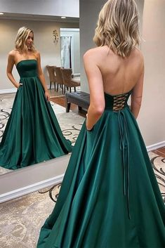 Strapless Backless Emerald Green Long Prom Dress, Backless Emerald Green Formal Graduation Evening Dress Related posts:Prom Chic Ball Gowns Prom Dresses Red Off-the-Shoulder Long Prom Dress Evening D. Dark Green Prom Dresses, Pretty Prom Dresses, Backless Prom Dresses, A Line Prom Dresses, Beautiful Dresses, Long Fancy Dresses, Dress Long, Strapless Formal Dress, Club Dresses