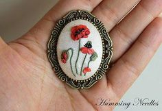 Brooch #ribbonEmbroidery