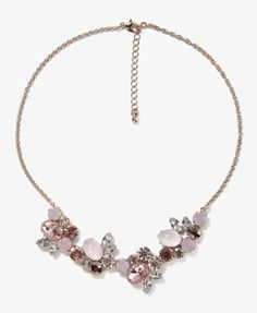 Rhinestone Cluster Chain Necklace | FOREVER21 - 1031557255