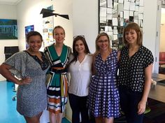 Maria, Tannja, Stromy, Liz and Maggie all working at Link in #ATX