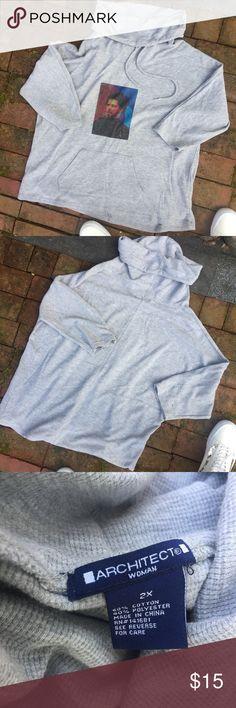 9f5762d8927 J.Cole Cowl Neck Hoodie Custom J. Cole cowl neck hoodie -worn a