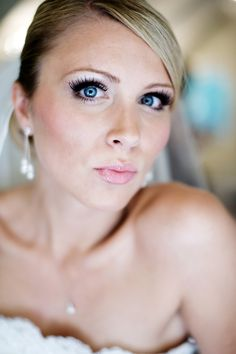 Love her makeup #Minnesota #weddings