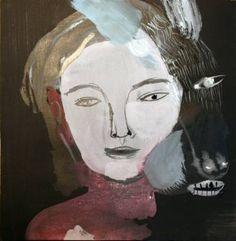 Buy BUT MY BODY, a Acrylic on Cardboard by sara falli from . It portrays: People, relevant to: sara falli, lupo, donna, ARTE, carta, artgallery, arte contemporanea, corpo, Inchiostro , il geloso curatore , volti, gouache mixed media on paper