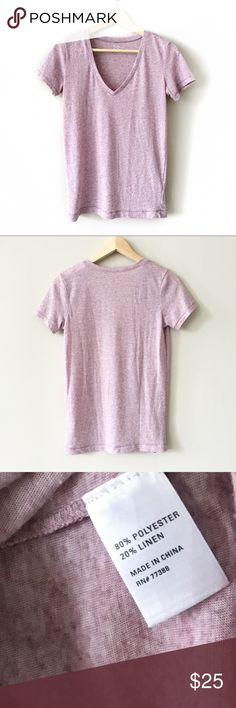 Madewell V-Neck Hi-Line Tee in Lavender V-Neck Tee from Madewell. Heathered lavender color. EUC. Madewell Tops Tees - Short Sleeve