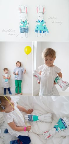 bunny-brother-and-sister-dolls tutorial