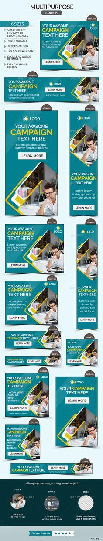 Multipurpose Banners Template #design #banners #web Download: http://graphicriver.net/item/multipurpose-banners/11807373?ref=ksioks