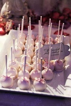 Elegant cake pops.