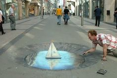 street art so incredible you could mistake it as real. Everything is better with art. Amazing street art that will blow you away. 3d Street Art, Street Art Artiste, Amazing Street Art, Street Art Graffiti, Graffiti Artists, Street Artists, Chalk Artist, 3d Chalk Art, 3d Artist