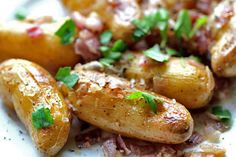 Fingerling Potatoes with Red Onion and Sage