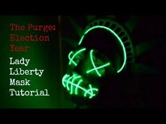 The Purge: Election Year - Lady Liberty Mask Tutorial - YouTube