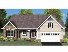 Eplans Ranch House Plan - Open Floor Plan - 1494 Square Feet and 3 Bedrooms(s) from Eplans - House Plan Code HWEPL75216