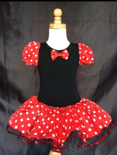 cc420fa76 Toddler Kid Girl Baby Minnie Mouse Cosplay Costume Fancy Dance Tutu Dress Up +Ear in Clothes, Shoes & Accessories, Kids' Clothes,…
