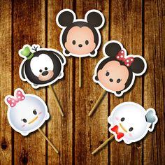 Tsum Tsum party Tsum Invitation Disney by FancymyCupcakeTopper