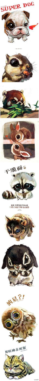 来自@雪娃娃童画 原创,超萌的动物插画作品,每个都是大眼睛,哪一个萌到你?→http://t.cn/zW1r9Y3
