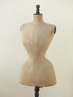 antique wasp waist mannequin dress form french Paris 1900 in Antiques, Other Antiques | eBay!