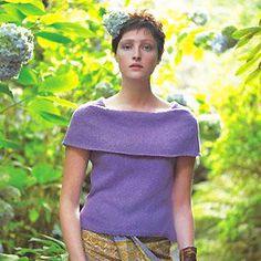 Knit a sleeveless deep-collar top :: free knitting patterns :: UK knitting patterns