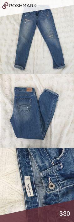 Worn once Abercrombie boyfriend jeans Size 16 in kids but fits like a size 24 in women's Abercrombie & Fitch Jeans